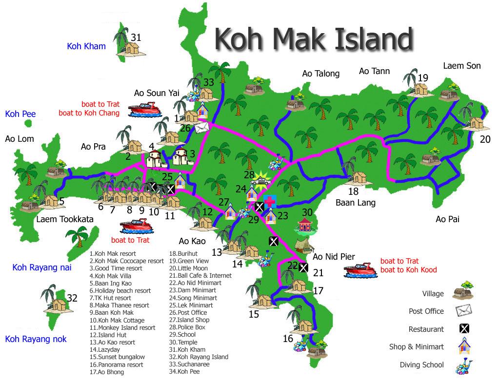 Карта Ко Мак